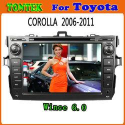 wince 6.0 touch screen car for toyota corolla dashboard 2006~2011