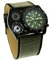 Múltiples oulm tiempo zona sub- diales decoración uñas barco de cuarzo reloj deportivo lobor reloj de cuarzo
