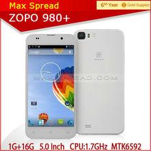 hot sale! 1.7 GHz octa core cortex A7 CPU Zopo ZP980+ 5.0 inch FHD screen smart cellphone