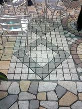 small cube pattern stone paving stone