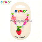 Latest design handmade bracelet beads fashion jewelry set of polymer clay pendant