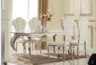brand new modern cream velvet dining chairs stainless steel frame dining table furniture