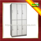 JEANTER China factory gray color steel metal 6 door used school lockers for sale