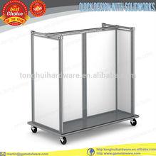 heavy duty metal silver grey gondola display stand