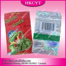 CUTE chronic snacks aluminum herbal incense cigar zipper bag/cigar package