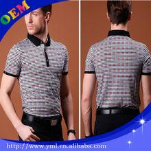 2014 new design fashion hot sell heat transfer print good quality short sleeve mens collared V-neck polo t shirt free sample