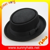 Classical 100% wool felt Pork pie hats for man with ribbon wholesale