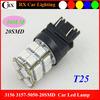 Car LED Parking Light t25 3156 3157 5050smd 12VDC 20LEDs Yellow/Red led car lights 12v