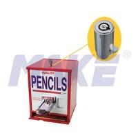 Tubular key pencil vending machine lock