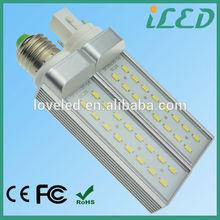 High Lumen Energy-Saving 8W LED PL Lamp G24 LED Lighting 6500K 5630 SMD CE RoHS Listed