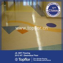 High Density Foam Backing Homogeneous Vinyl Floor For Office/Meeting Room