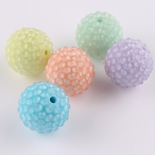 Wholesale 22mm round resin rhinestone ball, mixed color in light category