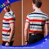 Fancy dot short sleeves strip polo shirt for golf man