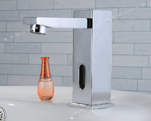 Copper square body intelligent sensor faucet induction Electronic Infrared Automatic Faucet with CE certification