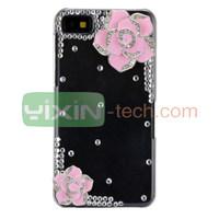 Shinning Peony Crystal Diamond Design For Blackberry Z10 Hard Case