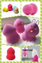 cute powder puffs wholesale/make up powder puff ,blending sponge puff