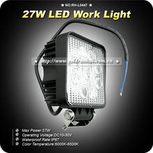 GoldRunhui RH-L0447 27W Led Work Light IP67 Auto Led Work Light For Offroad,Tractor,Truck,UTV,ATV