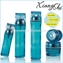 sky blue glass cosmetic bottles set