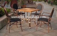 Bamboo imitation look rattan dining chair