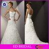 EDW235 Fit and Flare Ruffle Sweetheart Neckline Crystal Belt Eiffel Wedding Dress