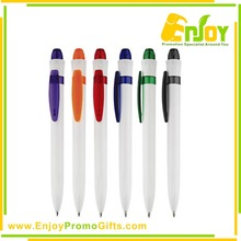 Eco-friendly Material Top Quality Logo Printed Plastic Ball Point Pen