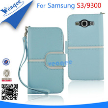 pure blue belt leather case for samsung galaxy s3 i3900