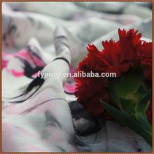 "Factory Direct Floral Patterned 8mm Raw Silk Georgette / Chiffon Digital Silk Scarf Print Fabric 45"""