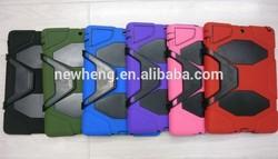 Heavy duty military duty Silicone hybrid kickstand case for iPad mini