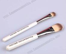 Nylon Wood White Handle Copper Ferrule Foundation Brush Set