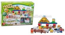 Happy Farm Block Toy, Building Block Bricks Construct Toy For Kids