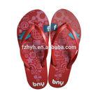 2014 summer sandal flip flops with red color,ladies flat slipper