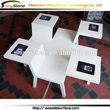 Beautiful updated elegant marble top coffee table