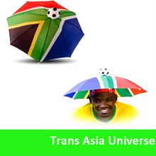 Hot Sale Head football fan umbrella hat