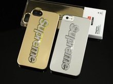 New arrival chrome supreme case for iphone 5s,for iphone 5s case
