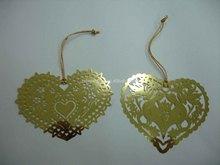 heart shape metal ornament custom made brass ornament