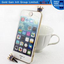 New Imitation Crown Rhinestone Dustproof Plug Headphone Anti-Dust Plug For Mobile Phone Ear Cap Dust Plug