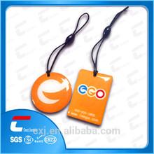 2014 Factory Price custom epoxy rfid mini nfc tag / nfc keyring / rfid keychain
