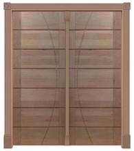 China solid entrance wood main door design for home