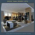 Marca famous moderna móveis de varejo, tecido parar armário de exposição, roupas de exposição da prateleira