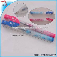 Advertising heart couple ball pen with heat transfer logo print