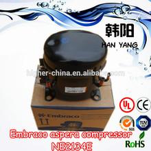 220-240V 50Hz 9/16hp r22 hermetic aspera refrigerator embraco compressor parts NE2134E,compressor unit for freezer