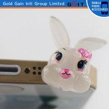 High Quality Cute Rabbit Jump Dustproof Plug 100% Perfectly Fits For 3.5 mm Ear Jack Dust Plug