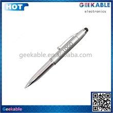Design latest key ring 3in 1 stylus pen