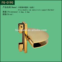 Metal golden hanging shelf bracket fitted on channel