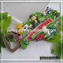 Nickel Free Custom Made Singapore Botanic Gardens PVC Fridge Magnet Bottle Opener For Travel Souvenir