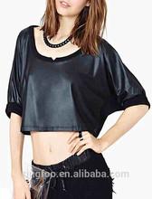 TS007 Dongguan Women Latest Summer Trendy Beautiful Elegant Sexy Plain Crop Tops Online 2014