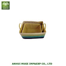 Straw woven laundry basket wicker storage box