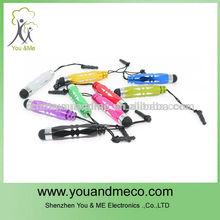 Mini stylus 2 in 1 mini touch pen 3.5mm touch pen for samsung galaxy s3 mini