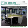 office workstation, metal frame wooden top office partition, office table