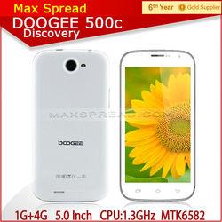 5.0Inch MTK6582 Quad-core 1.3GHz IPS QHD Screen 1GB/4GB doogee DG500C celular